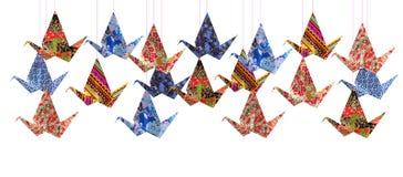 Origamin skyler över brister fåglar Royaltyfri Fotografi