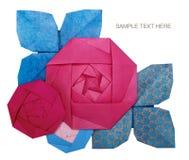 Origamin skyler över brister rosa färgrosen Royaltyfri Fotografi