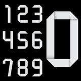 Origaminummeruppsättning vektor Arkivbild