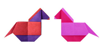 Origamipaard Stock Fotografie