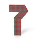 Origamipapierzahl sieben Lizenzfreies Stockfoto