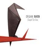 Origamipapper korpsvarta halloween Royaltyfri Fotografi