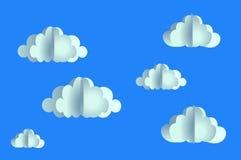 Origamipatroon velen wolk die van document wordt gemaakt vector illustratie