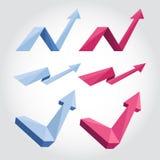 Origamipijlen Stock Foto