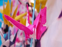 origamipink royaltyfri fotografi