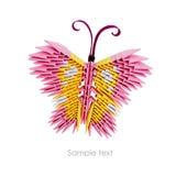Origamirosa färgfjäril Royaltyfria Bilder