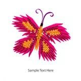 Origamirosa färgfjäril Royaltyfri Foto