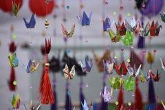 Origamis de Japonese Foto de archivo