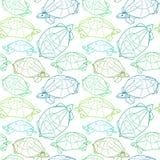 Origamisköldpaddor som drar illustrationen Royaltyfri Fotografi