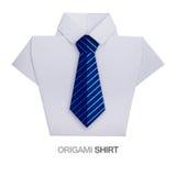 Origamiskjorta med bandet Arkivbild