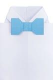 Origamiskjorta med flugan Royaltyfri Fotografi