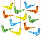 Origamislangen Royalty-vrije Stock Foto's