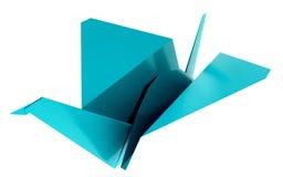 Origamisvanmodell Illustration vektor illustrationer