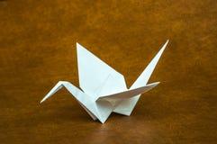 Origamivitbokkran Royaltyfri Bild