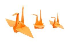 Origamivogel op witte achtergrond wordt geïsoleerd die Stock Foto
