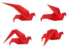 Origamivogels Stock Afbeeldingen