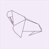 Origamiwalroß Lizenzfreies Stockfoto