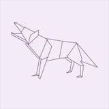 Origamiwolf Lizenzfreie Stockbilder