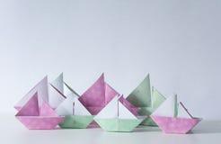 Origamizeilboten Royalty-vrije Stock Afbeeldingen