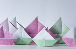 Origamizeilboten Royalty-vrije Stock Afbeelding