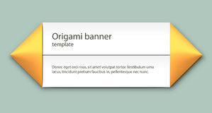 Origamo banner. Simple paper origami label. EPS10 vector image Royalty Free Stock Photography