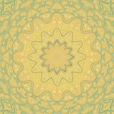 Origem étnica redonda de amarelo-turquesa decorativa no quadrado Imagem de Stock Royalty Free
