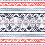 Origem étnica sem emenda Linhas geométricas em um backgroun branco Imagem de Stock