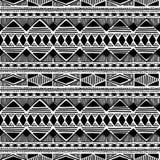 Origem étnica sem emenda preto e branco Imagens de Stock Royalty Free