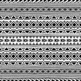 Origem étnica sem emenda preto e branco Imagem de Stock Royalty Free
