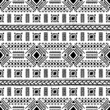Origem étnica sem emenda preto e branco Fotos de Stock Royalty Free
