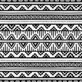 Origem étnica sem emenda preto e branco Fotos de Stock