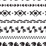 Origem étnica sem emenda preto e branco feito a mão Imagem de Stock Royalty Free