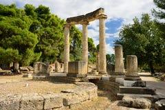 Origen de Grecia Olympia de los Juegos Olímpicos Imagenes de archivo