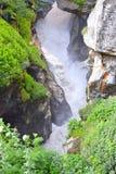 Origen del río Sarasvati, Mana Village, Uttarakhand, la India Fotos de archivo