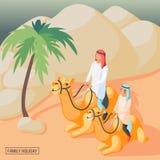 Origen familiar árabe stock de ilustración