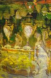 Origianl oil painting. Of egypt cairo market place Royalty Free Stock Photo