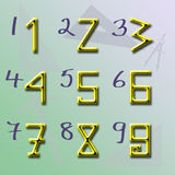 Origin of Numbers shape V2 Royalty Free Stock Photos