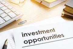 Originais com oportunidades de investimento do título foto de stock