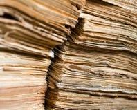 Originais de papel velhos no arquivo Fotografia de Stock
