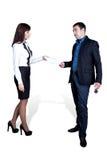 Originais de transferência. O homem com a menina. Foto de Stock Royalty Free