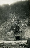 Original 1930 antique photo-miners Stock Photo