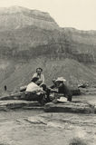 Original 1940 antique photo - grand canyon Stock Photography