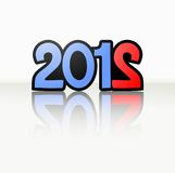 Original 2012. Original sign of new year 2012 Stock Image