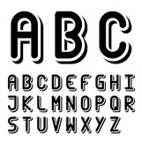 Original 3d black and white font alphabet Stock Photo