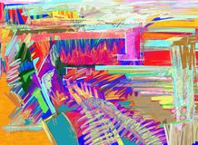 Original abstract digital painting. Artistic color composition royalty free illustration