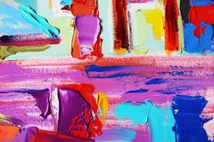 Original abstract oil painting Royalty Free Stock Image