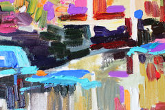 Original abstract oil painting Royalty Free Stock Photo