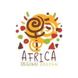 Original african logo of stylized sunshine Stock Photography