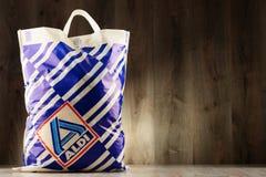 Original- Aldi plast- shoppingpåse Royaltyfri Foto