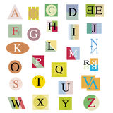 The original alphabet Royalty Free Stock Photos